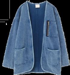 Blusa azul de frio